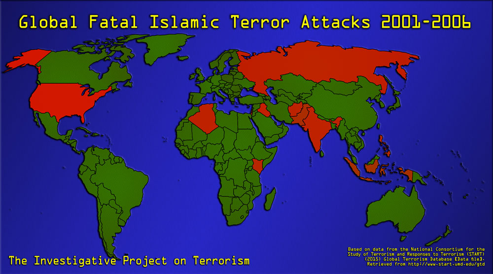 Islamist Terror Growing In Lethality And Geography IPT Analysis - Map of 98 us designated terrorist groups location